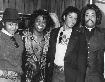 Michael , His Sister Janet And Their Friends, James Brown And Reverend Al Sharpton