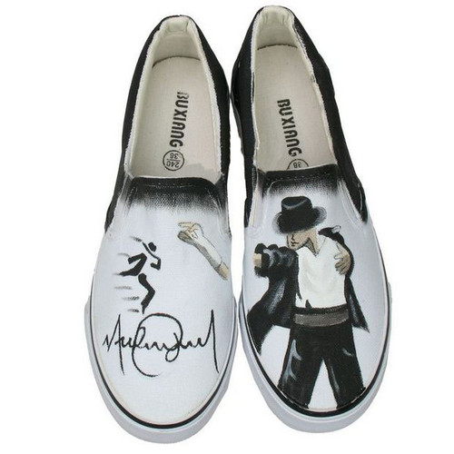 Michael Jackson personalized custom shoes