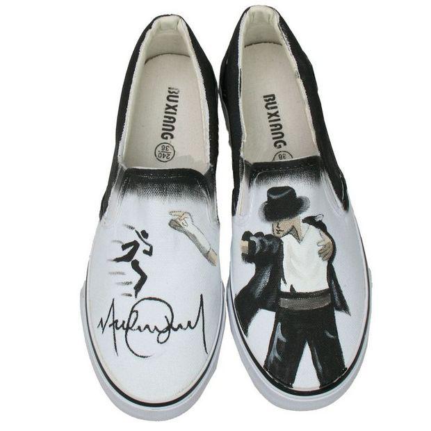 Michael Jackson personalized custom shoes