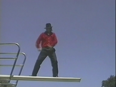 Michael One Diving Board Just Before Macaulay Pushed Him Into The Pool