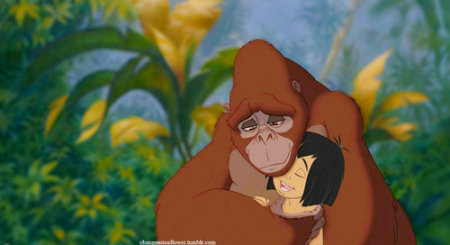 disney crossover fondo de pantalla called Mowgli/Kala.
