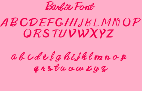 Barbie pelikula wolpeyper titled My New Barbie Font