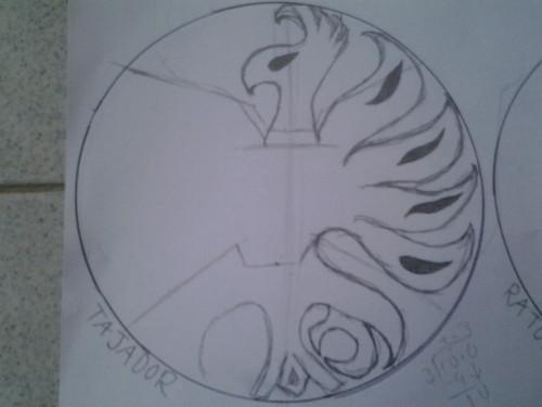 My halfway done drawing of the Tajador symbol