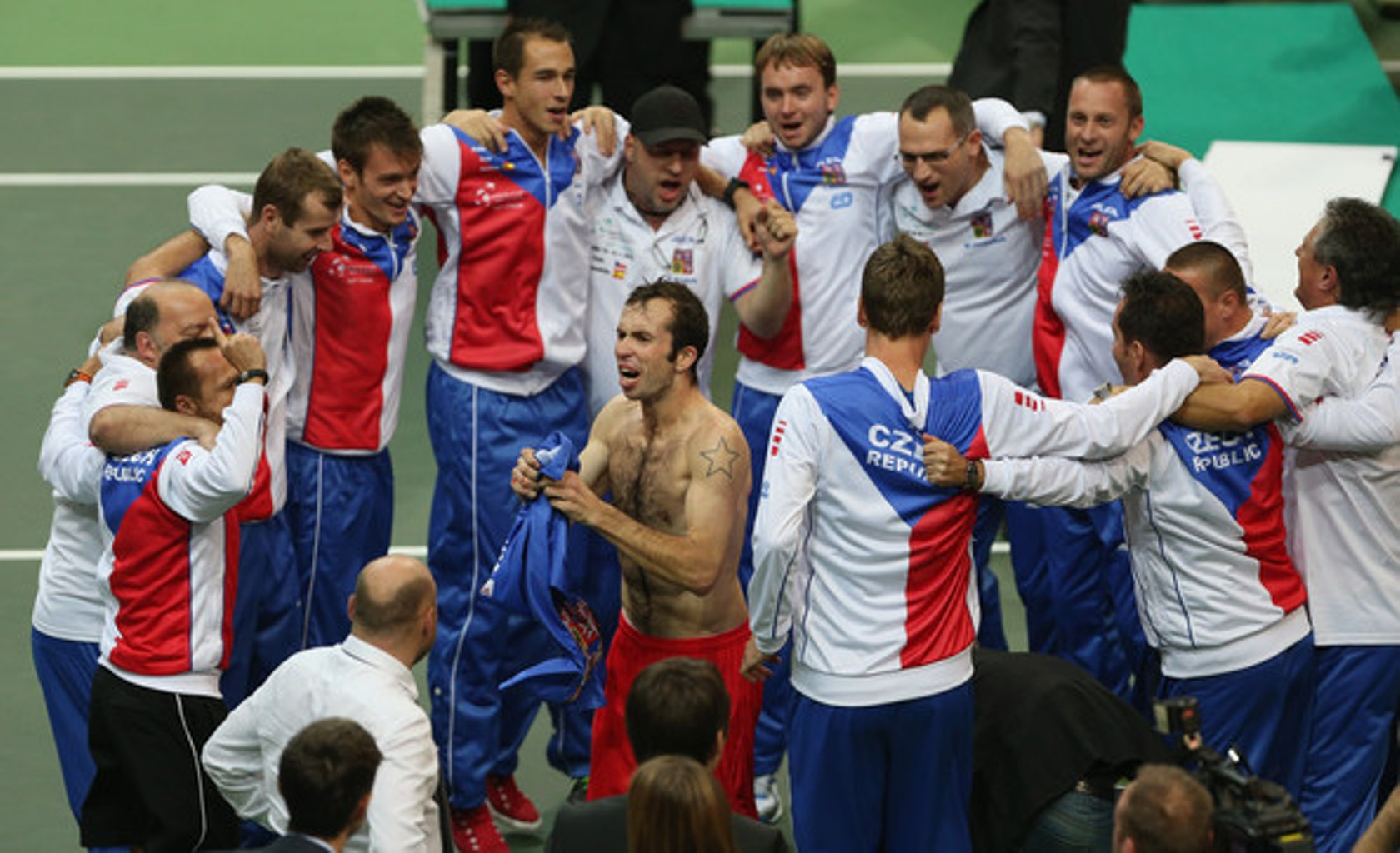Naked star Radek Stepanek