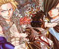 Natsu and Gajeel vs. Sting and Rogue