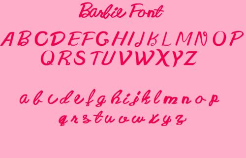 New Barbie Font