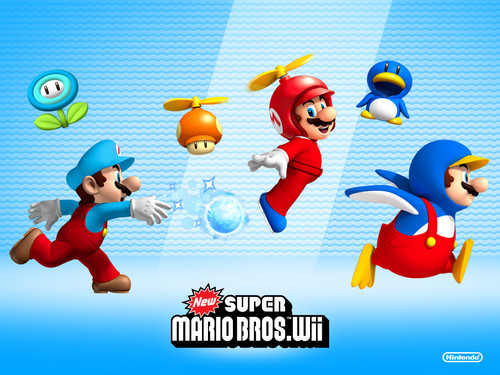 Super Mario Hintergrund titled New super mario bros wii