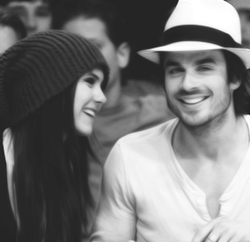 Ian Somerhalder and Nina Dobrev wallpaper called Nian<3