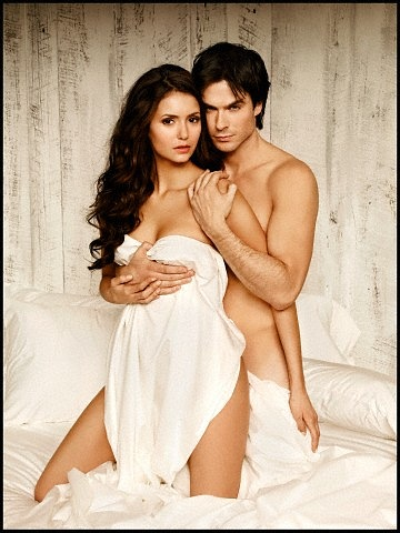 Ian Somerhalder and Nina Dobrev wallpaper possibly with skin called Nian