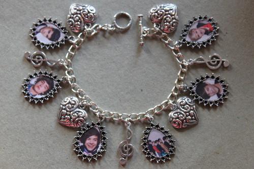 ONE DIRECTION 1D charm bracelet