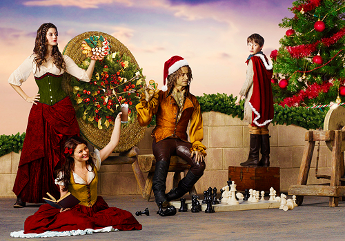 Once Upon A Time wallpaper probably with a bouquet entitled Once Upon a Time Christmas
