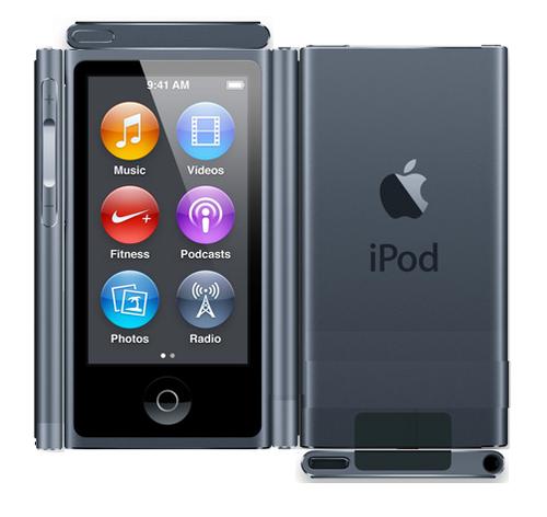 Paper Black ipod Nano