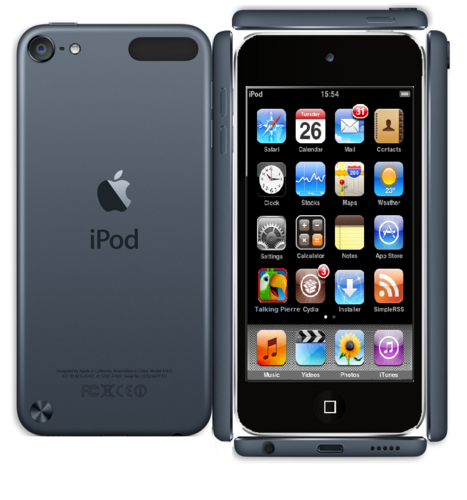 Paper Black ipod Touch