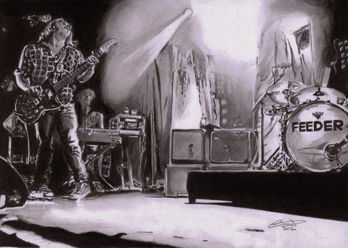 Pencil work of feeder live