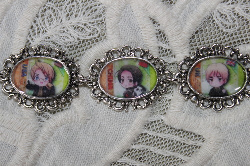 Pick Your Own Characters Hetalia custom bracelet