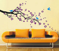 plum Blossom With Birds ukuta Sticker