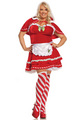 Plus Size Miss Candy Cane Christmas Costume
