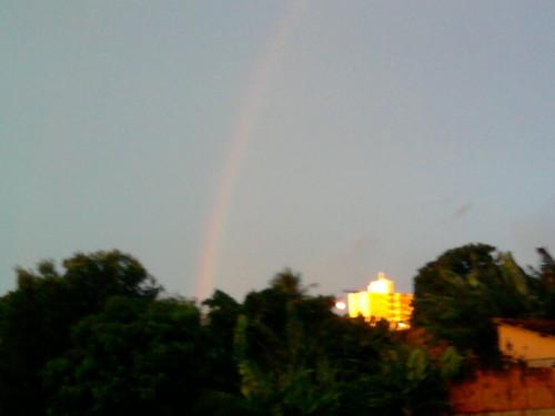 regenboog at sunset...