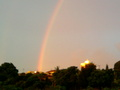 Rainbow at sunset... - rainbows photo