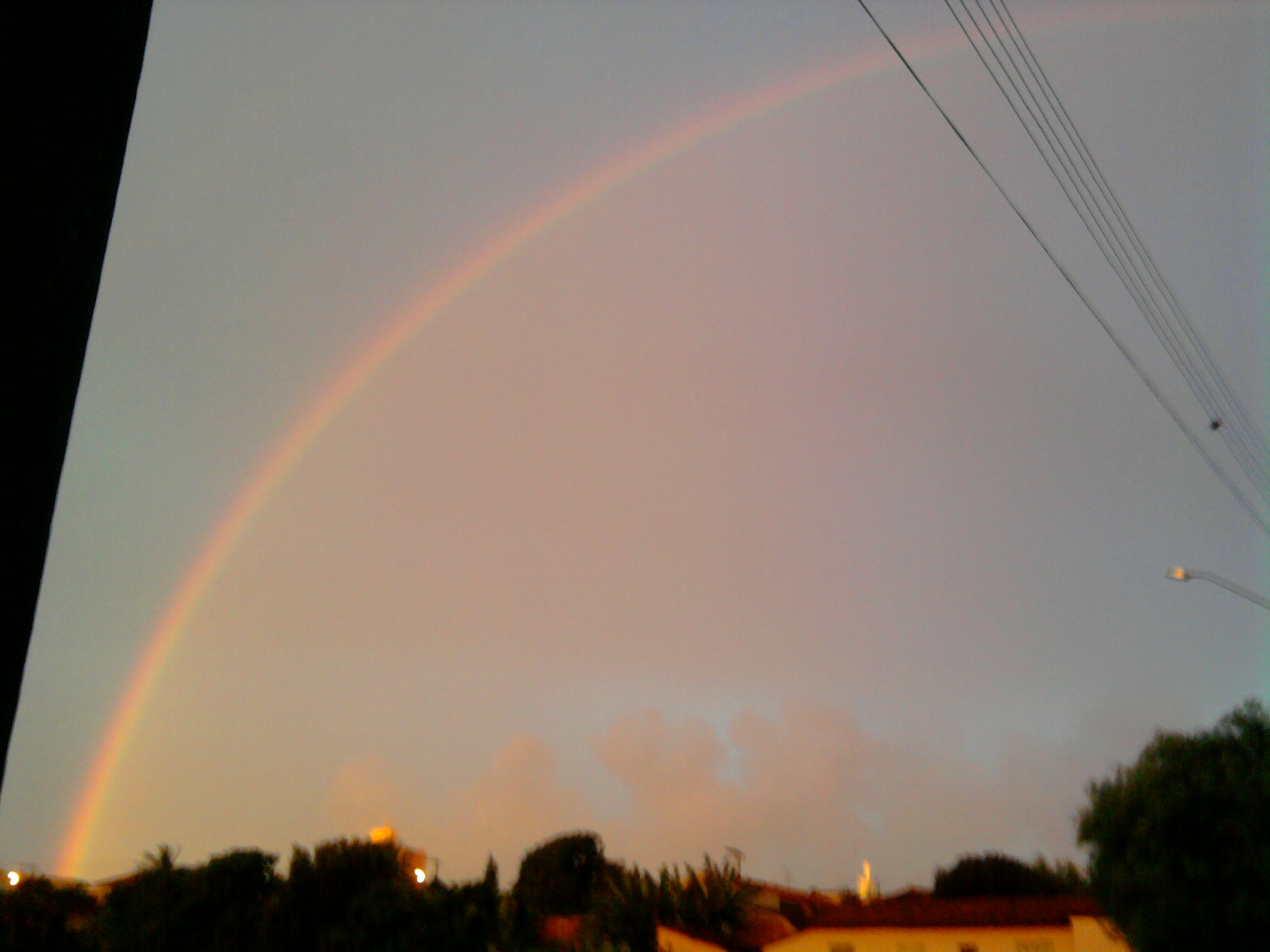 Rainbow at sunset...