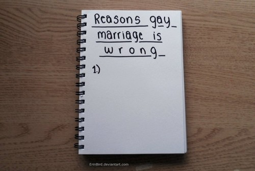 from Bronson gay marriage wrong