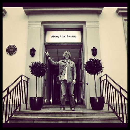 Recording at Abbey Rd. in Londres