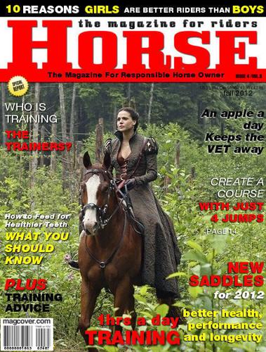 Regina on a Horse magazine