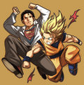SUPERMAN VS GOKU - dragon-ball-z photo