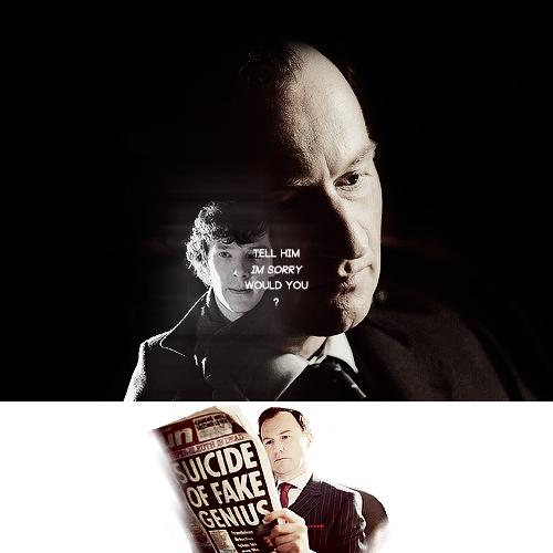 Sherlock in der BBC Hintergrund probably with a coffee break called Sherlock & Mycroft