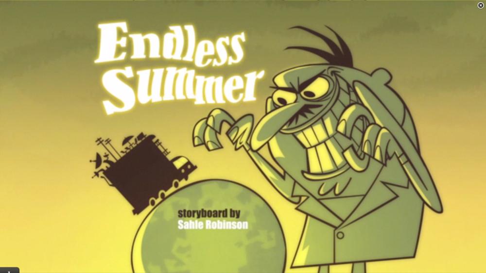 """Sidekick: """"Endless summer"""" tajuk card"""