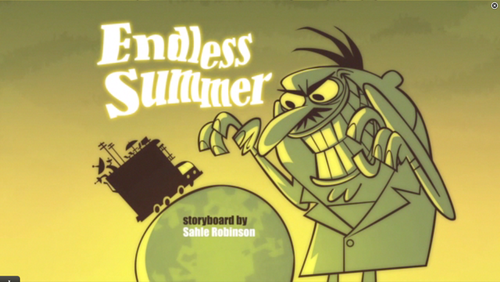 "Cartoon Network's Sidekick wallpaper probably with a sign entitled Sidekick: ""Endless summer"" title card"