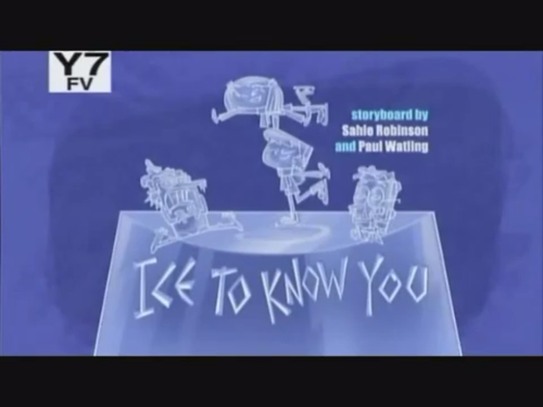 "Sidekick: ""Ice to know you"" pamagat card"