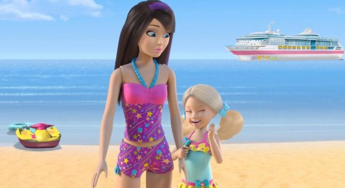 Barbie: Life in the Dreamhouse پیپر وال probably containing a maillot called Sisters Ahoy