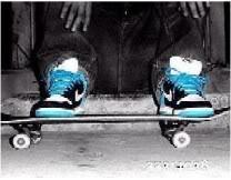 Skateboard Blue Skin