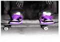 Skateboard Purple Skin - skateboarding photo