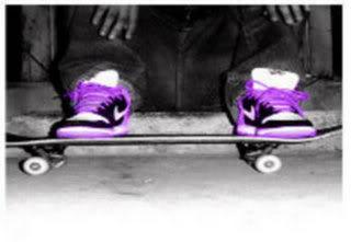 Skateboard Purple Skin