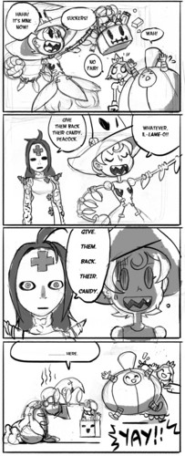 Skullgirls Halloween comic 2