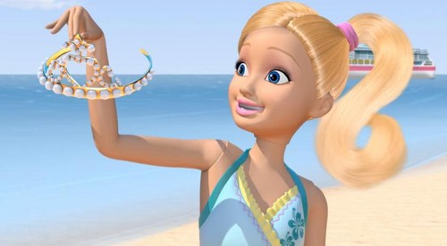Barbie: Life in the Dreamhouse achtergrond possibly with a bikini and a portrait entitled Stacie and Pearl Crown