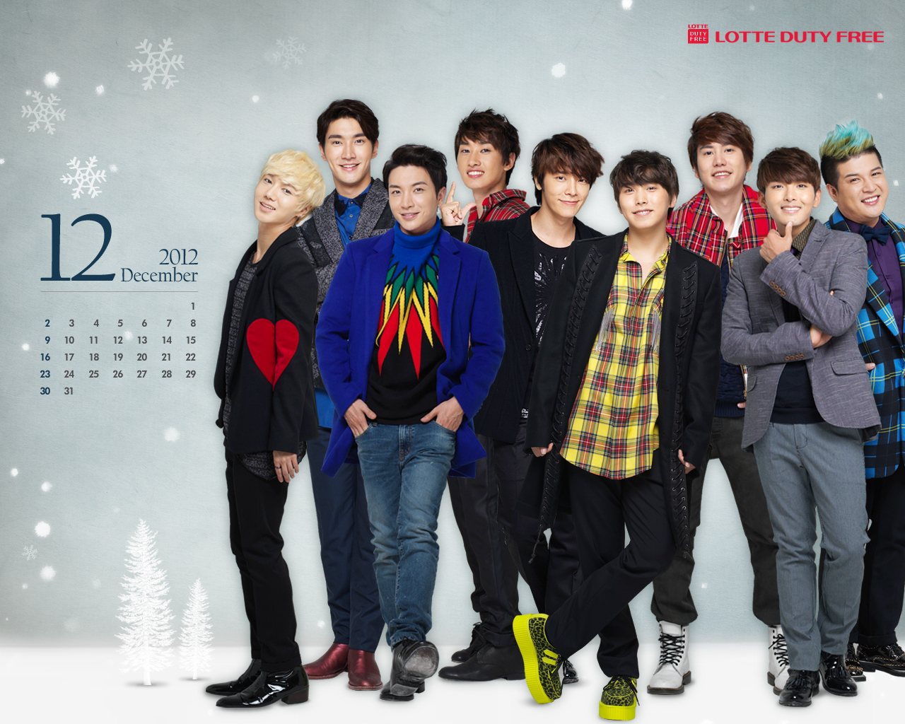 SuJu ~ Dec 2012 Calendar  Super Junior Wallpaper 32897917  Fanpop