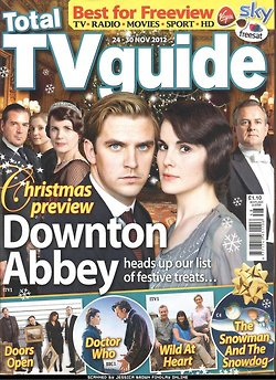 TV Guide November 2012: Downton Abbey क्रिस्मस Special Episode