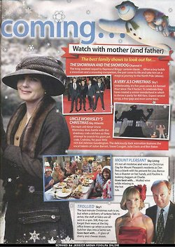 TV Guide November 2012: Downton Abbey 크리스마스 Special Episode