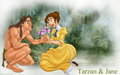 Tarzan and Jane - walt-disneys-tarzan wallpaper
