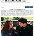The Special Relationships: TV's Top 50 Love Stories of the Past Decade #1 Nathan and Haley - one-tree-hill photo