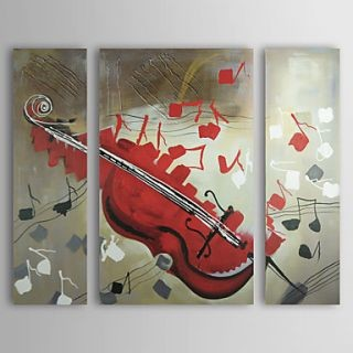Fine Art wallpaper possibly containing a violist titled The Violin Oil Painting - Set of 3 - Free Shipping