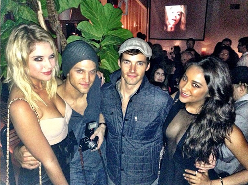 serie lindas mentirosas fondo de pantalla titled The pretty little liars cast celebrate season 3: fotos from the envolver, abrigo party