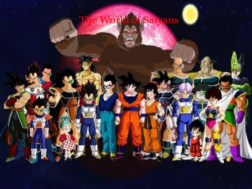 아니메 바탕화면 titled The world of saiyans