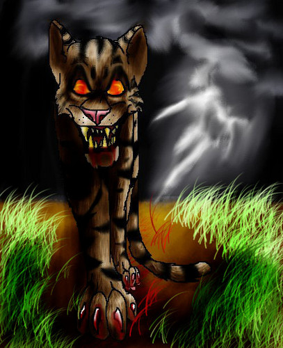 Warriors (Novel Series) wolpeyper possibly with a tiger cub entitled Tigerstar