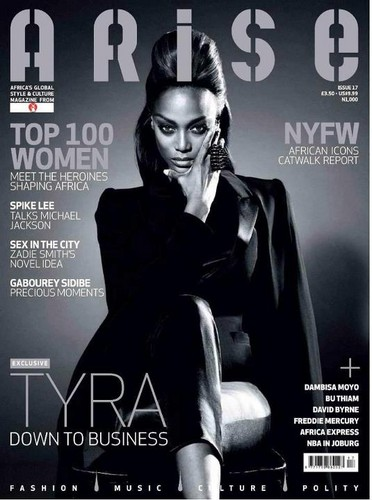 Tyra Banks for ARISE magazine