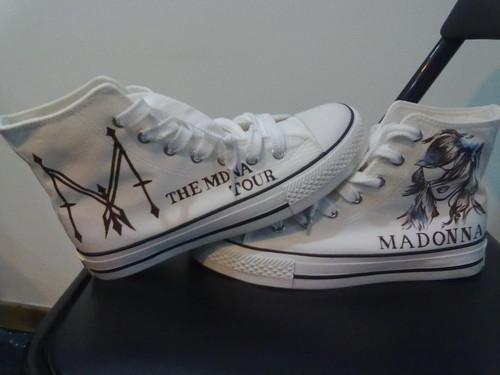 Unique Madonna custom shoes