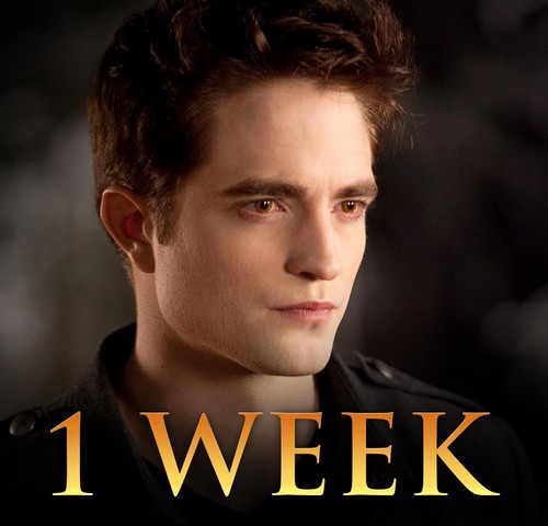 Until 1 week Breaking Dawn Part 2